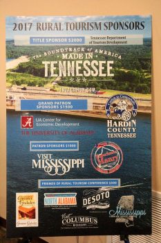 Poster highlighting conference sponsors.