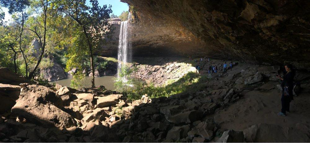 View of Noccalula Falls and conference attendees.