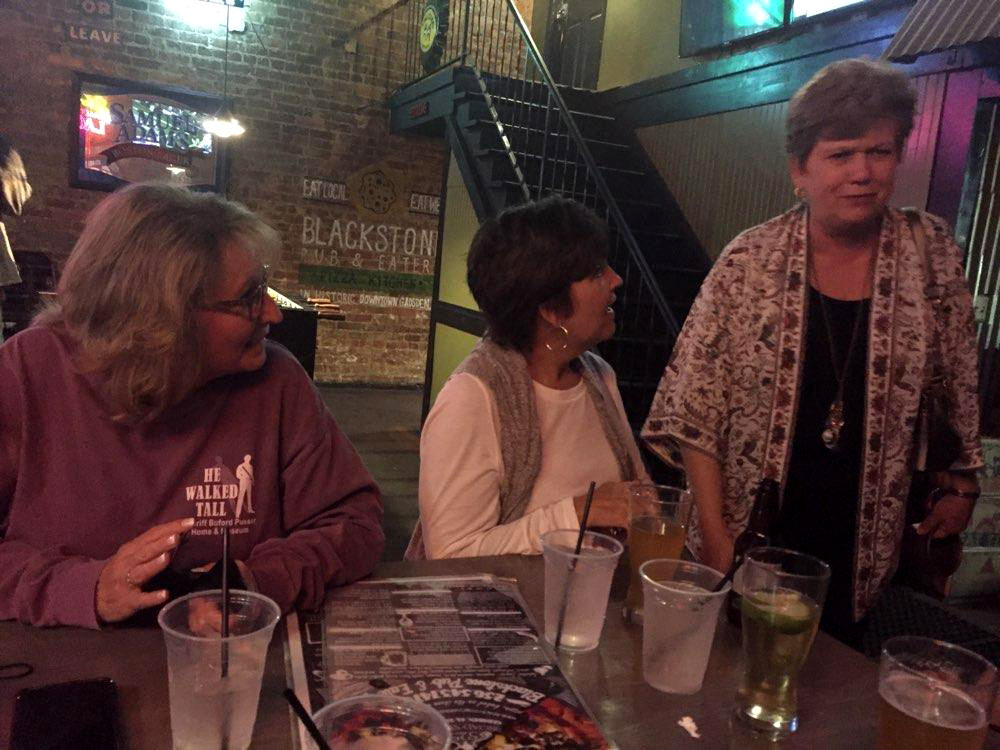 Conference attendees enjoying supper at local Gadsden restaurant.