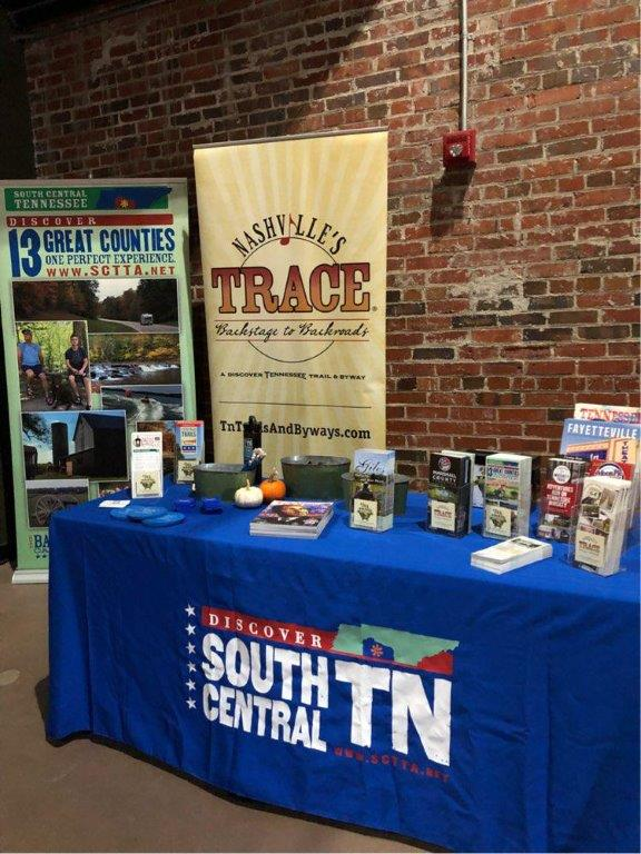 Sponsor booth for South Central Tennessee Tourism Association.