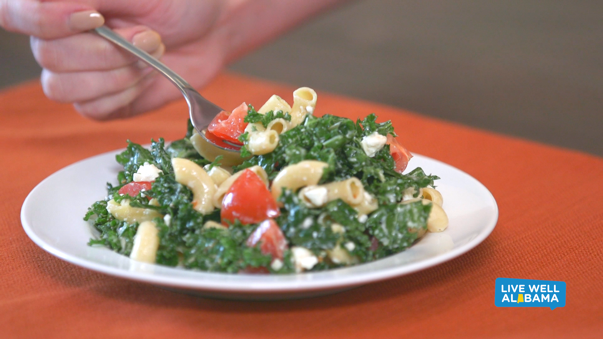 picture pasta and kale salad recipe